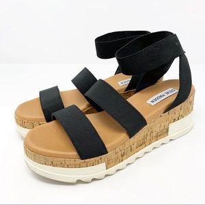 Steve Madden Bandi Platform Sandals 7.5  Black